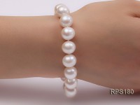 10-11mm AA round freshwater pearl necklace and bracelet set
