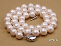 10-11mm AA Classic White Round Freshwater Pearl Necklace