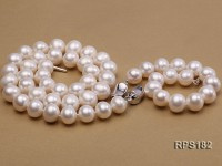 11-12mm AAA round freshwater pearl necklace and bracelet set