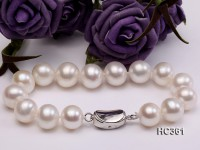 11-12mm AAA round freshwater pearl bracelet