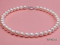 Classic 11-12.5 mm AAA White Round Freshwater Pearl Necklace