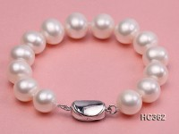 11.5-12.5mm AAA round freshwater pearl bracelet