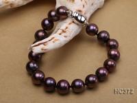 9-10mm AAA dark purple round freshwater pearl bracelet