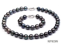 12mm AAA  round freshwater pearl necklace and bracelet set
