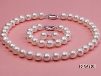 11.5-12.5mm AAAA round freshwater pearl necklace,bracelet and earring set