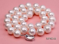Classic 11.5-12.5mm AAAA White Round Freshwater Pearl Necklace