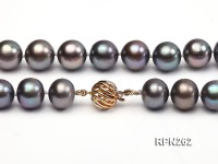 Classic 11mm AAA Black Round Cultured Freshwater Pearl Necklace