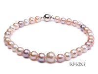 Super-color 12-16mm AA Multi-color Freshwater Pearl Necklace