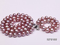 8-9mm AAA round freshwater pearl necklace and bracelet