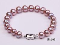 8-9mm AAA round freshwater pearl bracelet