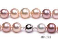 Classic 14.5-16.5mm AAA White, Pink & Lavender Round Cultured Freshwater Pearl Necklace