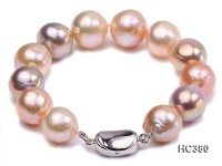 13-14mm Multicolor round Edison pearl bracelet