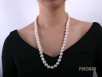 12-12.5mm white round freshwater pearl necklace