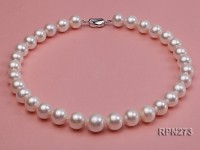 Classic 12.5-14.5mm AAA White Round Freshwater Pearl Necklace