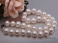 13-14mm AA-grade Classic White Round Freshwater Pearl Necklace