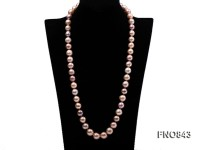 12.5-14.5mm High Quality  round Edison Pearl Opera Necklace