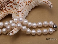 12-13mm A white round freshwater pearl necklace