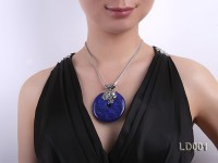 Azure Blue Lapis Lazuli Pendant with Sterling Silver Fitting