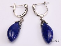 9x21mm Lapis Lazuli Earrings with Sterling Silver Hooks