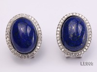 15x19mm Lapis Lazuli Earrings with Sterling Silver Studs