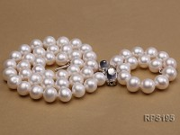 10-11mm  round freshwater pearl necklace,bracelet and earring set
