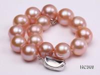 11-13mm Pink round Edison Pearl bracelet