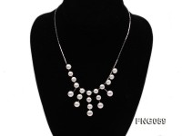 8.5mm White Freshwater Pearl on a Gold Plated Chain Necklace
