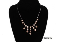 8.5mm Pink Freshwater Pearl on a Gold Plated Chain Necklace