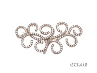 27x55mm Multi-strand 18k Golden Gold-plated Clasp with Zircons