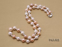 13-16mm Natural Multicolor Round Freshwater Pearl Necklace