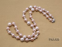 11-13.5mm Natural Multicolor Round Freshwater Pearl Necklace