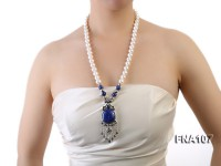 11-12mm Round White Freshwater Pearl Long Necklace