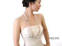 Three-Strand 6-7mm Natural White Freshwater Pearl Necklace