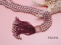 2 Strand 8mm Natural purple Freshwater Pearl Necklace