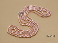 Three-Strand 6-7mm Natural Pink Freshwater Pearl Necklace