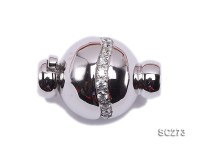 Exquisite 18K Gold-plated Zircon-inlaid Sterling Silver Necklace Clasp