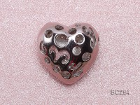 15x15mm Heart-shaped Gold-plated Silver Accessories with Zircons