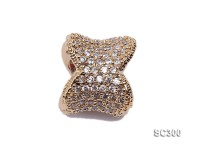 10x13mm Gold-plated Silver Accessories with Zircons