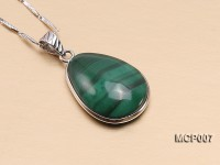 15x20mm Drop-shaped Malachite Pendant
