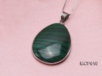 27x30mm Drop-shaped Malachite Pendant