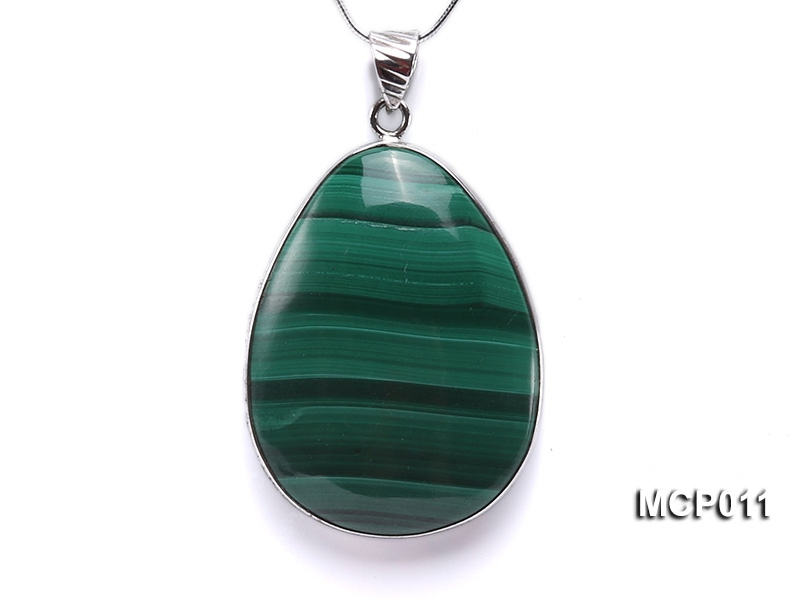 30x40mm Drop-shaped Malachite Pendant
