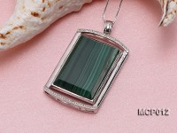 25x35mm Rectangular Malachite Pendant