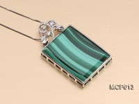 30x40mm Rectangular Malachite Pendant