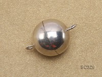 14mm Single-strand Sterling Silver Magnetic Ball Clasp