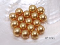 South Sea Pearl—AAAA-grade 13-14mm Round Golden South Sea Pearl