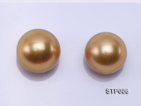 South Sea Pearl—AAAA-grade 13.5-14.5mm Round Golden South Sea Pearl