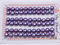 Wholesale Cards of 8-8.5mm Purple Flat Pearls–33 Pairs