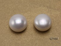 Super-size 15-15.5mm Classic White Flat Loose Pearl
