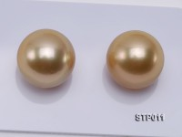 South Sea Pearl—AA-grade 14-15mm Round Golden South Sea Pearl