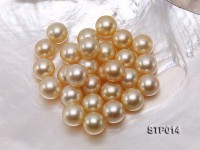 South Sea Pearl—AAA-grade 14-15mm Round Golden South Sea Pearl